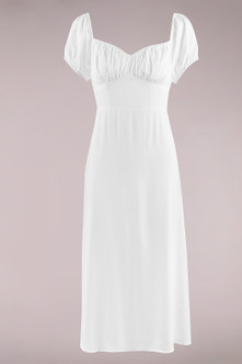 Juliette White Midi Dress