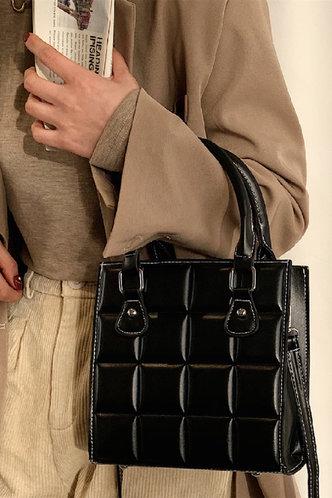 front_Ethel Ella Black Satchel Bag