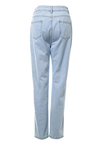back_Not An Ordinary Girl Pastel Blue Distressed Jeans