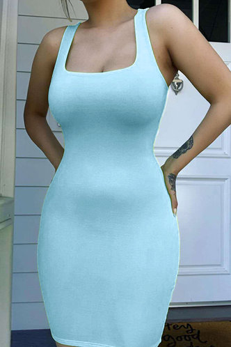 front_Marguerite Edith Blue Bodycon Dress