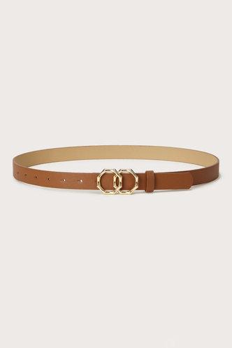 back_Edwina Elaine Camel  Double Ring Decor Belt