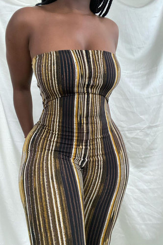 front_Hermosa Homar Striped Jumpsuit