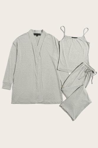 back_Sweet Dreams Light Grey PJ Set