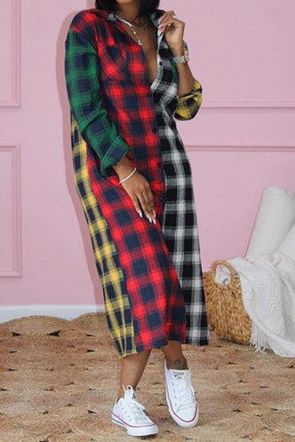 back_Janice Esther Plaid Longline Dress