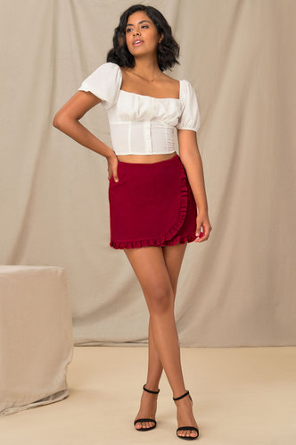 front_For The Frill Of It Red Skirt
