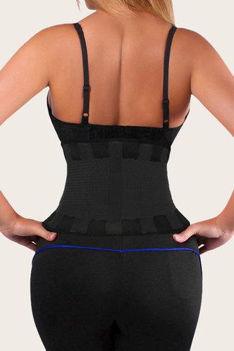 back_Plain Bandage Black Corsets & Shapewear