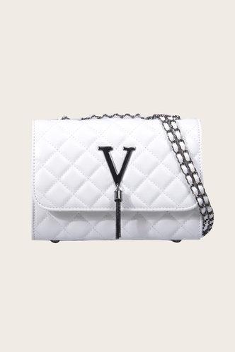 front_Belle Emily White Shoulder Bag