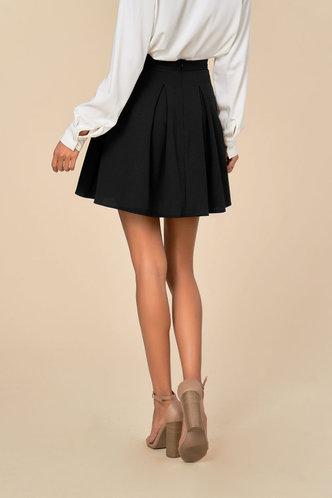 back_Flare Affair Black Skirt