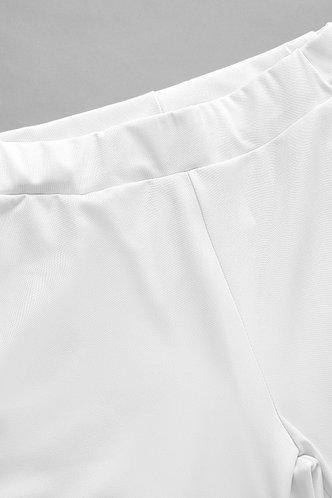 back_High Waist Flare Leg White Pants