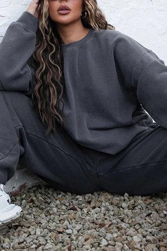 back_Gay Elaine Dark Grey Pullover