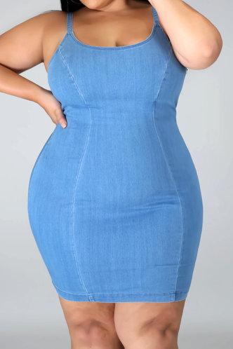 front_Eunice Lumstel Blue Plus Bodycon Dress