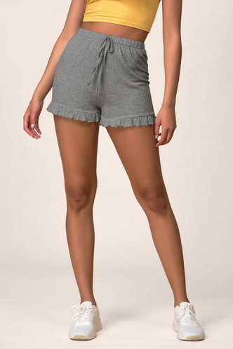 front_Feeling Butterflies Dark Grey Shorts