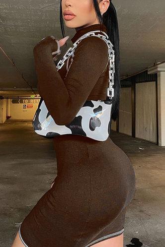 back_Marge Eartha Dark Brown Bodycon Dress