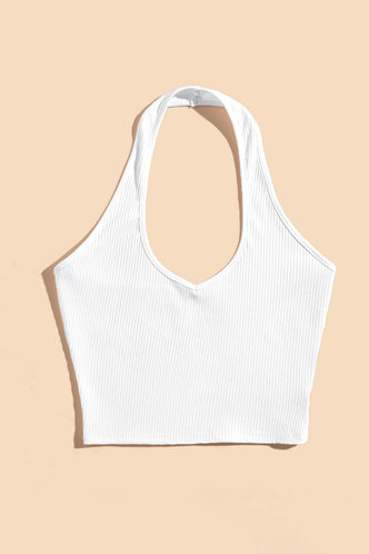 back_Dahlia White Halter Top