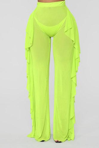 front_Maria Elva Lime Green Pants