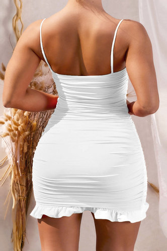 back_Heloise Kradan White Plus Cami Bodycon Dress