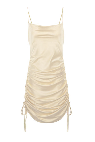 front_Orianna Light Champagne Mini Dress