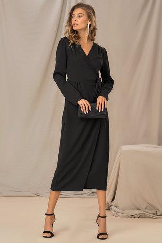 front_nana Black Solid Dress