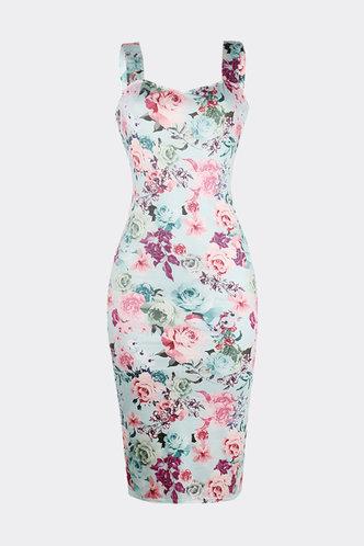 back_Eileen Klub Floral Print Bodycon Dress