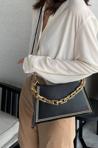front_Cori Emily Black Shoulder Bag