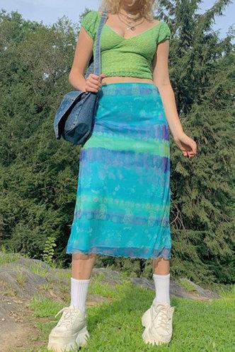 front_Joa Emma Cyan Skirt