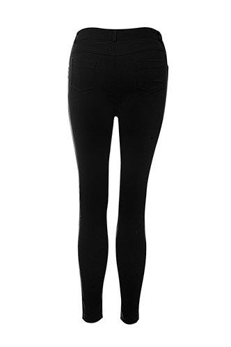 back_Make It Rain Black Skinny Jeans