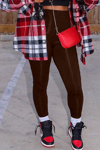 back_High Waist Brown Pants