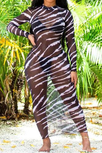 front_Arlene Gimik Striped Cover-Up