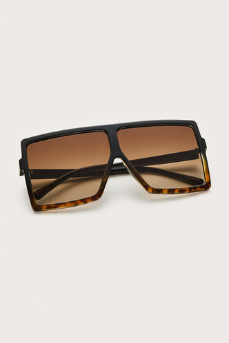 front_Summer Elizabeth Brown Leopard Square Frame Sunglasses