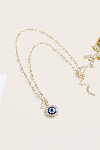 front_Gwen Erin Gold Rhinestone Charm Necklace 1pc