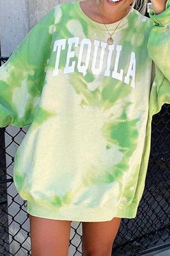 front_Barbie Edwina Green Tye Dye Sweatshirt