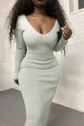 back_Evelyn Esther White Bodycon Dress