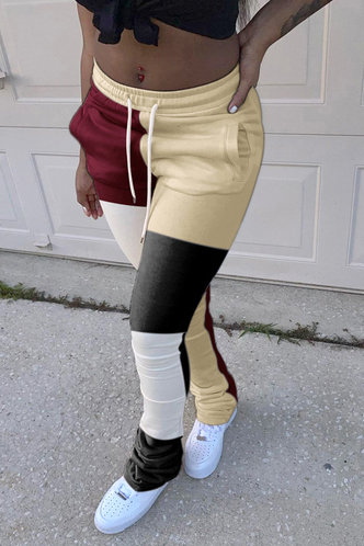 back_Georgina Elma Khaki Colorblock Pants