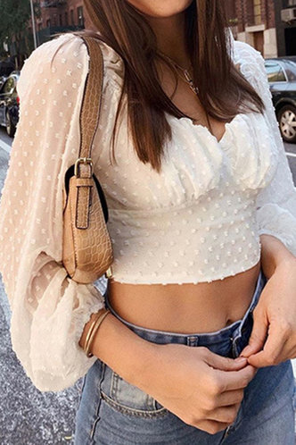front_Nannie Ella White Crop Blouse