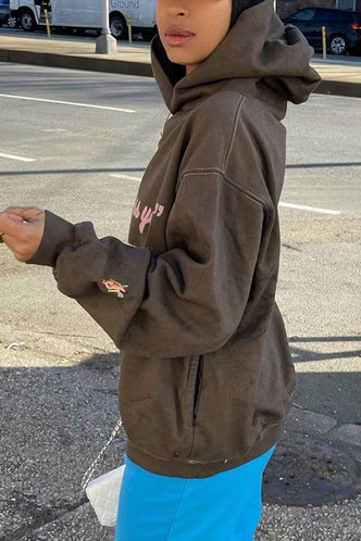 back_Vicki Filopator Brown Sweatshirt & Hoody