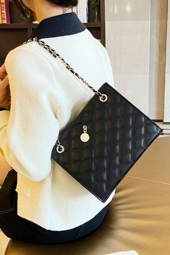 back_Eunice Ella Black Tote Bag