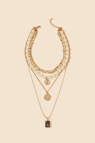 back_Mignon Eartha Gold Layered Necklace