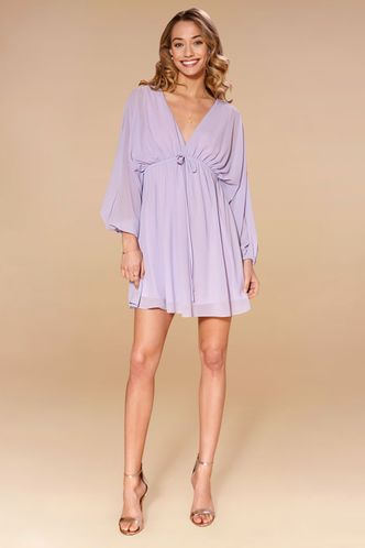 front_Daffodil Light Purple Mini Dress