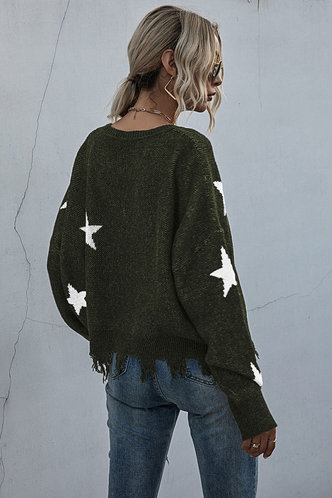 back_Cara Edith Basics Green Sweater