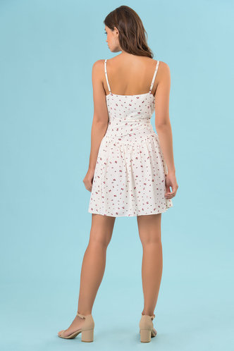 back_Daydream White Floral Print Slip Dress