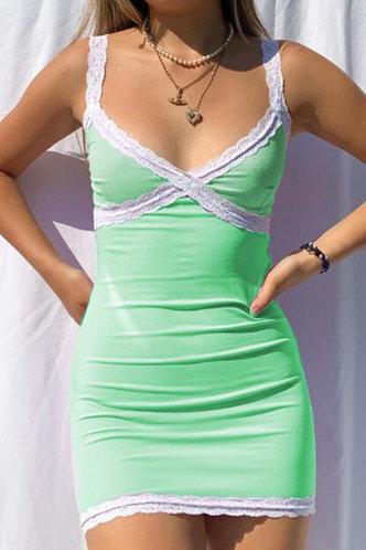 front_Colette Elsie Mint Green Lace Trim Dress