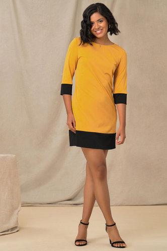 back_Bumble Babe Yellow Tunic Dress