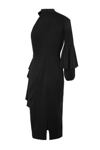 back_Back Up Plan Black Pencil Dress