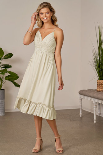 front_Chrysanthemum Champagne Midi Dress