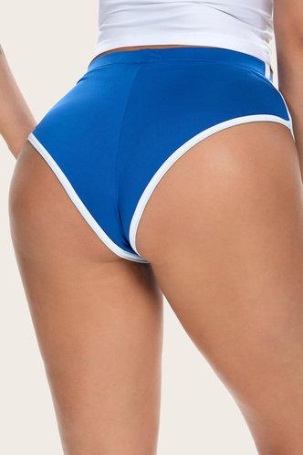 front_Sigrid Eartha Royal Blue Shorts