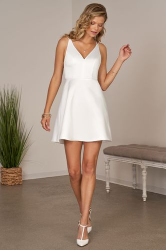 front_Sumptuous White Mini Dress