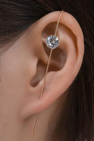 front_Maura Elvira Gold Rhinestone Ear Pin