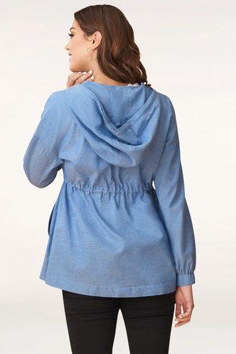 back_Breaking Free Denim Blue Shirt Jacket