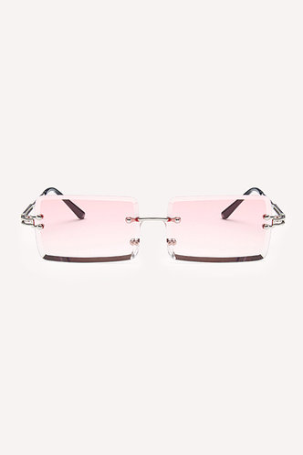 front_Summer Eleanore Pink Metal Frame Tinted Lens Sunglasses