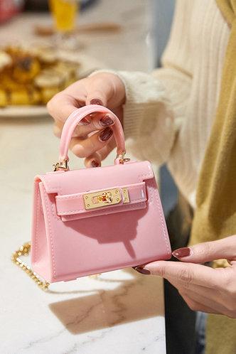 front_Holley Elva Pink Satchel Bag
